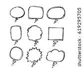 speech bubble hand drawn | Shutterstock .eps vector #619295705
