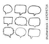 speech bubble hand drawn | Shutterstock .eps vector #619295714