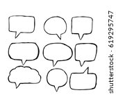 speech bubble hand drawn | Shutterstock .eps vector #619295747