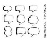 speech bubble hand drawn | Shutterstock .eps vector #619295765