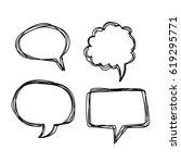 speech bubble hand drawn | Shutterstock .eps vector #619295771