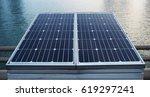 front solar cell panel for... | Shutterstock . vector #619297241