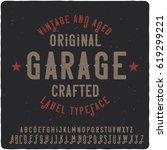 vintage label typeface named... | Shutterstock .eps vector #619299221