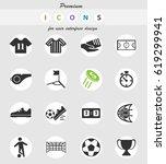 soccer vector icons for user... | Shutterstock .eps vector #619299941