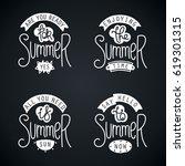 summer labels and design... | Shutterstock .eps vector #619301315