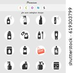 household chemicals web icons... | Shutterstock .eps vector #619303799