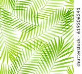 summer tropical palm tree... | Shutterstock .eps vector #619306241