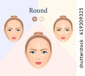 vector image of cosmetic visual ... | Shutterstock .eps vector #619309325