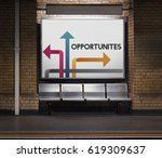 illustration of opportunities... | Shutterstock . vector #619309637