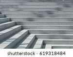 Abstract stairs in black and...