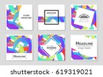 abstract vector layout...   Shutterstock .eps vector #619319021