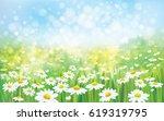 vector summer nature ... | Shutterstock .eps vector #619319795