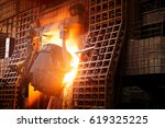 large steel mill production... | Shutterstock . vector #619325225