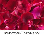 Stock photo rose petals as background 619325729