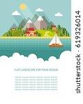 blank for text. spring  summer... | Shutterstock .eps vector #619326014