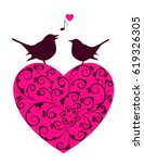 vector heart and pair of love...