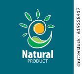 logo natural product | Shutterstock .eps vector #619328417