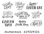 earth day wording isolated on... | Shutterstock .eps vector #619329101