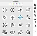 globes web icons for user... | Shutterstock .eps vector #619329857