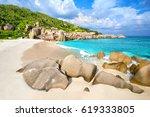 Tropical Beach At Seychelles ...