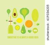 vegetables fruits greens bottle ...   Shutterstock .eps vector #619336205