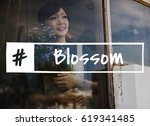blossom flowers ideas cheer... | Shutterstock . vector #619341485