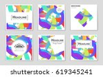 abstract vector layout... | Shutterstock .eps vector #619345241