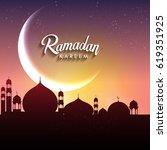 ramadan greetings background ... | Shutterstock .eps vector #619351925
