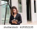 portrait beautiful modern... | Shutterstock . vector #619352135