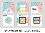 abstract vector layout... | Shutterstock .eps vector #619352489