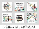 abstract vector layout... | Shutterstock .eps vector #619356161