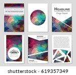 abstract vector layout... | Shutterstock .eps vector #619357349