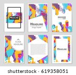 abstract vector layout... | Shutterstock .eps vector #619358051