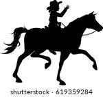 Cow Girl Riding Horse...