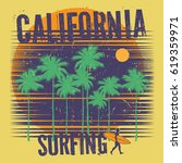 theme of surfing with text... | Shutterstock .eps vector #619359971