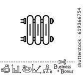 web line icon. radiator  cast...   Shutterstock .eps vector #619366754