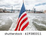 the american flag and the... | Shutterstock . vector #619380311