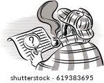 investigator english that... | Shutterstock .eps vector #619383695