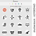 basketball web icons for user... | Shutterstock .eps vector #619385465
