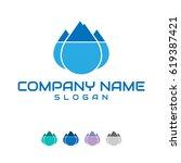 water logo  | Shutterstock .eps vector #619387421