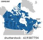 canada map. | Shutterstock .eps vector #619387754