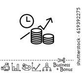 web line icon. business idea ... | Shutterstock .eps vector #619392275