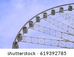 ferris wheel and clear blue sky ... | Shutterstock . vector #619392785