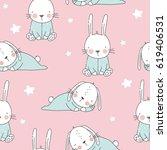 Vector Print With Cute Bunny....