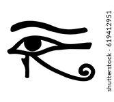 Egyptian Symbol Of The Eyes Go...