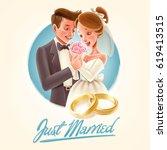 marriage illustration | Shutterstock .eps vector #619413515