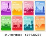 travel information cards.... | Shutterstock .eps vector #619420289