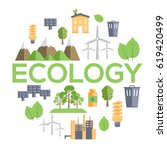 ecology circle infographics... | Shutterstock .eps vector #619420499