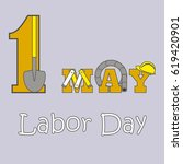 1st may   labor day logo poster ... | Shutterstock .eps vector #619420901