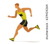 professional sprinter ...   Shutterstock .eps vector #619424264